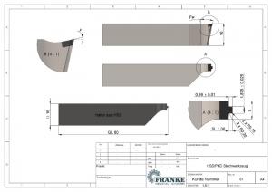 Zeichnungsableitung_PKD-Drehstahl Werkzeug